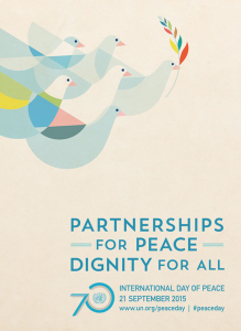 UN 2015 International Day of Peace poster