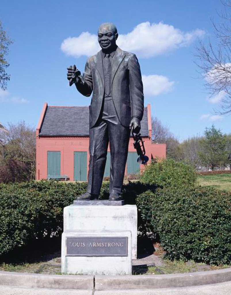 Louis Armstrong in Armstrong Park, New Orleans, LA.