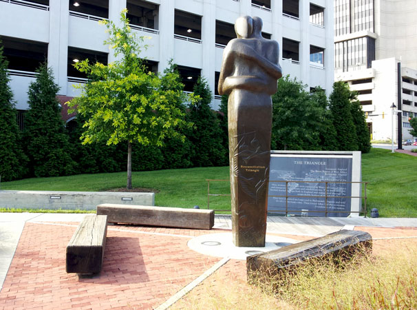 Photo of Triangle of Reconciliation in Richmond, VA
