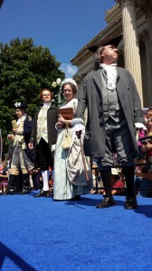 "July 4, 2014 Dramatic Reading of the ""Declaration of Independence"" with George Washington, John Adams, Thomas Jefferson, Abigail Adams and Benjamin FranklinNational Ar"