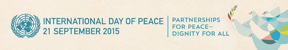 UN 2015 International Day of Peace banner