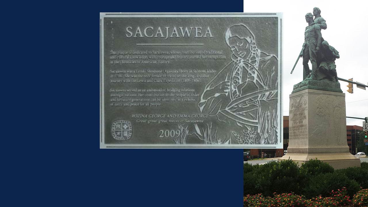 Lewis, Clark and Sagajawea statue, Charlottesville, VA