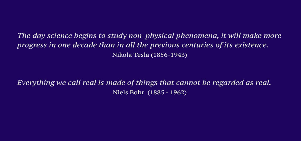 Nikola Tesla and Niels Bohr quotes on science and physical phenomena