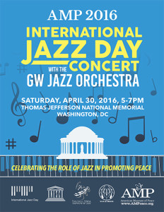 AMP 2016 International Jazz Day Concert poster